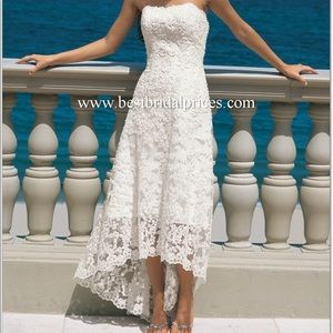 Alfred Angelo Wedding Dresses, shoe and veil
